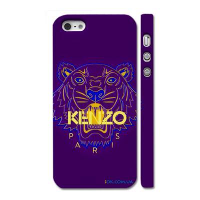 Купить брендовый чехол Kenzo на Айфон 5, фиолетовый