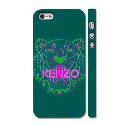 Купить оригинальный чехол Kenzo на Айфон 5, зеленый