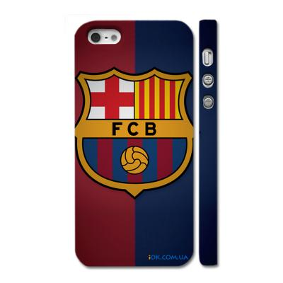 Накладка c логотипом футбольного клуба Барселона на Айфон 5