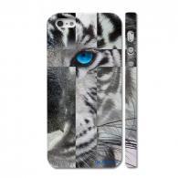 Стильная накладка на Айфон 5, Голубоглазый леопард