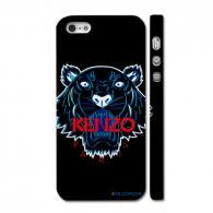 Брендовый чехол Kenzo на Айфон 5, черный