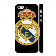 Чехол c логотипом королевского футбольного клуба на Айфон 5, черный