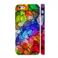 Яркий чехол - накладка на iPhone 5, Кубы - мозаика
