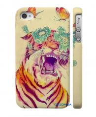 Купить Swage чехол для iPhone 4, 4S  бабочки и тигр