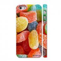 Стильный чехол на Айфон 5, разноцветные мармеладки