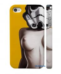 Классный чехол для iPhone 4, 4S изящный силуэт