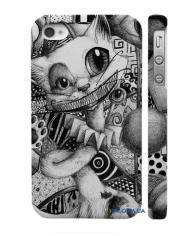 Чехол с авторским дизайном на Айфон 4, 4С  котэ