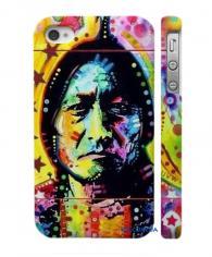 Купить креативный кейс на Айфон 4, 4С Индеец