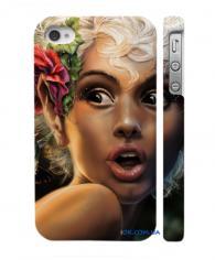 Потрясный чехольчик на Айфон 4, 4С  сексуальная блондинка