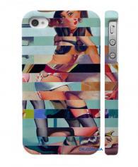 Swage чехол-накладка на Айфон 4, 4С эротические пазлы
