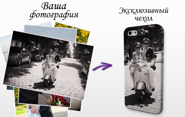 Чехол со своим дизайном для iphone 6
